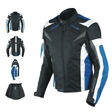 Ladies Textile Jacket sport Racing CE Armour Thermal Liner Vents Motorcycle Blue