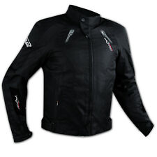 Motorbike Motorcycle Wind Waterproof CE Armour Breathable Textile Jacket Black