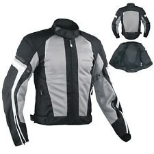 Summer Motorbike Mesh Sport Racing Touring CE Armored Jacket Motorcycle Grey