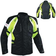 Jacket CE Armored Quality Waterproof Motorbike Motorcycle Thermal Liner Fluo
