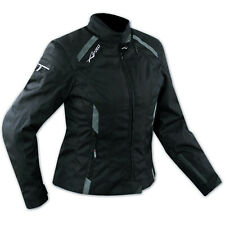 Jacket Textile Ladies Racing Motorcycle Motorbike All Season CE Armored Black