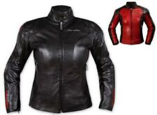 Ladies Leather Jacket Motorcycle Motorbike CE Armored Thermal Liner All sizes