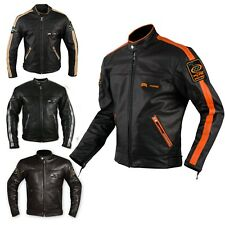Motorbike Biker Custom Cruiser Motorcycle CE Armours Quality Leather Jacket