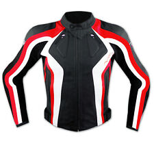 Motorbike Motorcycle Ladies CE Armours Sport Leather Racing Tour Jacket Red