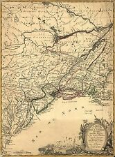 Poster Print Antique American Military Map Northern