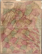 Poster Print Antique American Military Map Potomac