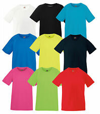 Fruit of the Loom KIDS CAMISETA PERFORMANCE diferentes colores 104-164 NUEVO