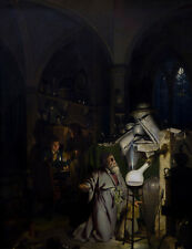 Alchemist In Search Of Philosophers Stone Joseph Wright Derby Art Poster / Photo