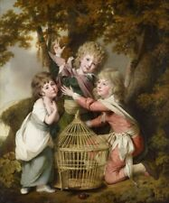 Synnot Children Joseph Wright Derby 1781 Art Photo/Poster Repro Print Many Size