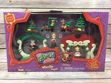 How the Grinch Stole Christmas Whoville Die Cast Chassis Train Play set NRFB