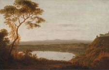 Lake Albano Joseph Wright Derby 1790 to 1792 Art Photo/Poster Repro Print Many