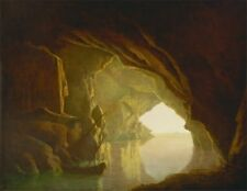 Grotto In Gulf Salerno Sunset Joseph Wright Derby 1780to 1781 Quality Art Photo