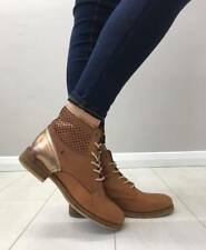 NEW BOURBON-AMY HUBERMAN 'BIG COUCH' TAN LACE UP ANKLE BOOT LEATHER £10 OFF RRP
