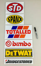 Le Mans Spoof Sponsor Stickers - Funny Le Mans Race Car Decals - Lemans Race