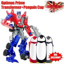 Optimus Prime Autobots Transformer Truck Car  Kid Toy &Cute Penguin Cup Gift