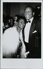 Cicely Tyson, Sydney Portier, Sidney Poitier ORIGINAL PHOTO HOLLYWOOD Candid