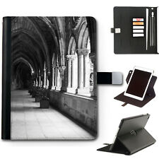HAIRYWORM MEDIEVAL STONE ARCHES 360 SWIVEL LEATHER APPLE IPAD TABLET CASE, COVER