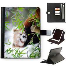 HAIRYWORM ANIMAL RED PANDA 360 SWIVEL LEATHER APPLE IPAD TABLET CASE, COVER