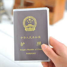 Hot Clear Scrub Passport Cover Holder ID Card Travel Protector Organizer Case UK