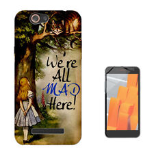 657 Alice wonderland cat Custodia GEL Cover per Wiko jerry lenny sunny tommy