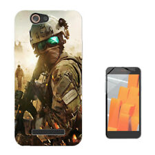 917 Army Scene Custodia GEL Cover per Wiko jerry lenny sunny tommy