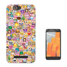 925 Smiley Emoji  Custodia GEL Cover per Wiko jerry lenny sunny tommy