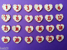 FELT Advent Numbers....Various Choices Available Colours & Shapes PRICED PER SET