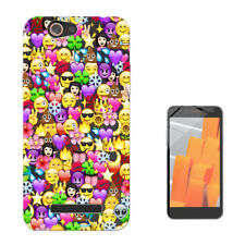 2070 Emoji Wallpaper Crown Custodia GEL Cover per Wiko jerry lenny sunny tommy