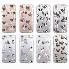 Puppy Pug Bunny Cat Princess Meow French Bulldog Phone Case for iPhone Samsung.