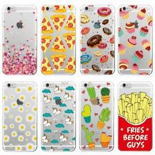 Donuts Fries Hearts Unicorn Pizza Soft Clear Phone Case For iPhone and Samsung.