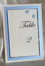 HANDMADE TABLE NUMBERS / NAMES    HEARTS DESIGN