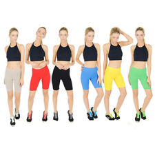New Ladies womens Cotton Shorts Sports Crop Pants Cycling 1/2 Gym Running shorts