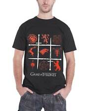 Game of Thrones T Shirt House Sigils and Swords Logo Official Mens New Black