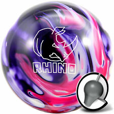 Bowling Ball Brunswick Rhino Purple Pink White 10 bis16 lbs Reaktiv Strikeball