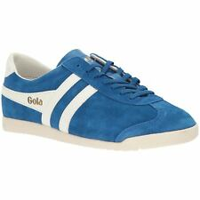 Gola Bullet Marine Blue Off White Womens Suede Classic Low-top Retro Trainers