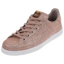 Chaussures basses cuir ou simili Victoria Deportivo rose paillette Rose 39217 -
