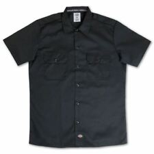 Dickies Slim Fit Short Sleeve Work Shirt Black