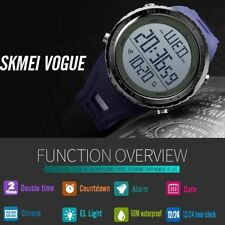 SKMEI Watch Sport Quartz Wrist Men Analog LED Digital Rubber Waterproof Military