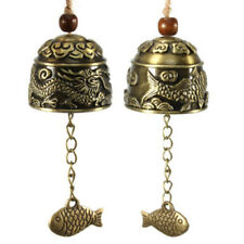 LC_ DRAGONE CINESE/PESCE FENG SHUI Bell BUONA FORTUNA appeso Carillon VENTO HE