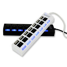 LC_ 7-Port PORTE USB 2.0 Hub Splitter alta velocità Adattatore On/Off