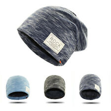 LC_ HIP HOP CAPPELLO INVERNO SOLIDO BEANIE ROCK PATCH fodera in pile Casual Uomo