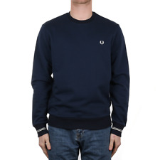 X Fred Perry Crew Neck Sweat - Dark Night (Fred Perry Limited)