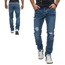 Jack & Jones Herren Jeans Slim Fit Stretch Distressed Denim Herrenhose Hose NEU