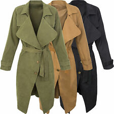 Donna Cappotto trench donna BLOGGER Giacca TRANSIZIONE Giacca Donna d-302 S-L