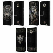 OFFICIAL ANNE STOKES WOLVES 2 LEATHER BOOK WALLET CASE COVER FOR MOTOROLA PHONES