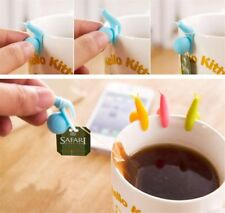 Small Lovely Mini Snail Shape Silicone Tea Bag Hanging Polychromatic Optional