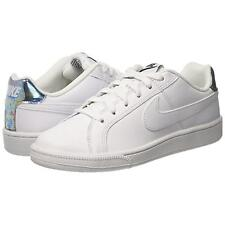 SCARPE SNEAKERS NIKE DONNA COURT ROYALE BIANCO METAL ALL WHITE 749867109 CLASSIC