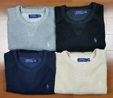 Polo Ralph Lauren Men Crew Neck Knit Pony Logo Pullover Sweater S M L