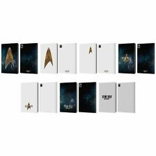 OFFICIAL STAR TREK DISCOVERY LOGO LEATHER BOOK WALLET CASE COVER FOR APPLE iPAD