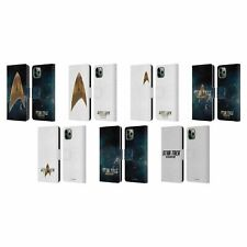 OFFICIAL STAR TREK DISCOVERY LOGO LEATHER BOOK CASE FOR APPLE iPHONE PHONES